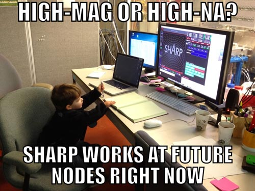 High-Mag or High-NA? SHARP works at future nodes right now