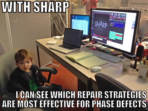 With SHARP, I can see which repair strategies are most effective for phase defects